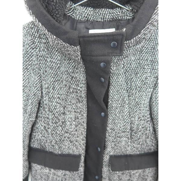 SLY(スライ)ツイード中綿ダウンコート 長袖 黒/白 レディース Bランク 1 wanboo 04