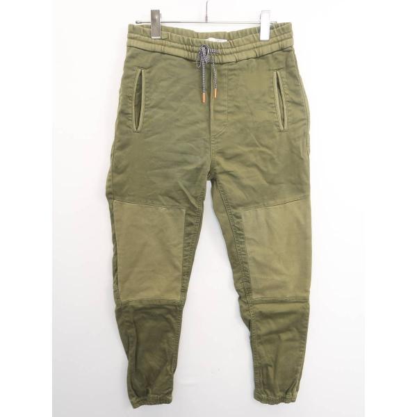 ZARA MAN(ザラマン)カーゴ風ジョグパンツ 緑 メンズ A-ランク S