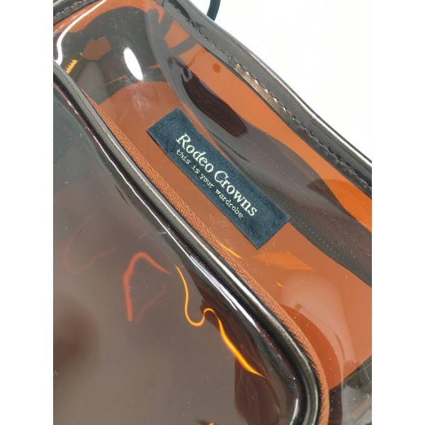 RODEO CROWNS(ロデオクラウンズ)クリアショルダーバッグ 茶 レディース A-ランク|wanboo|03