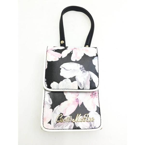 CECIL McBEE(セシルマクビー)花柄シガレットケース 黒/ピンク レディース Aランク|wanboo