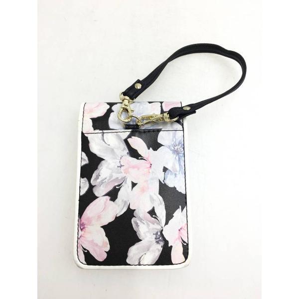CECIL McBEE(セシルマクビー)花柄シガレットケース 黒/ピンク レディース Aランク|wanboo|02