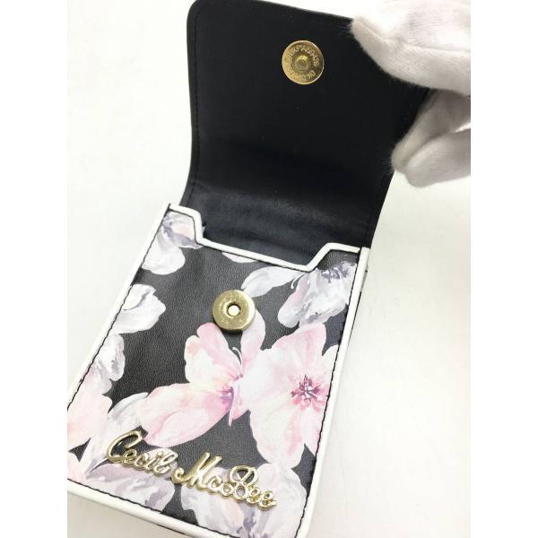 CECIL McBEE(セシルマクビー)花柄シガレットケース 黒/ピンク レディース Aランク|wanboo|03