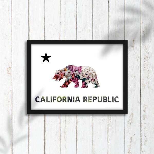 グラフィックポスター  CALIFORNIA REPUBLIC  A3サイズ|wannabes2016