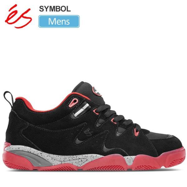エス スニーカー 'es シンボルブラック/レッド  25.5-28cm SYMBOL メンズ 正規取扱店