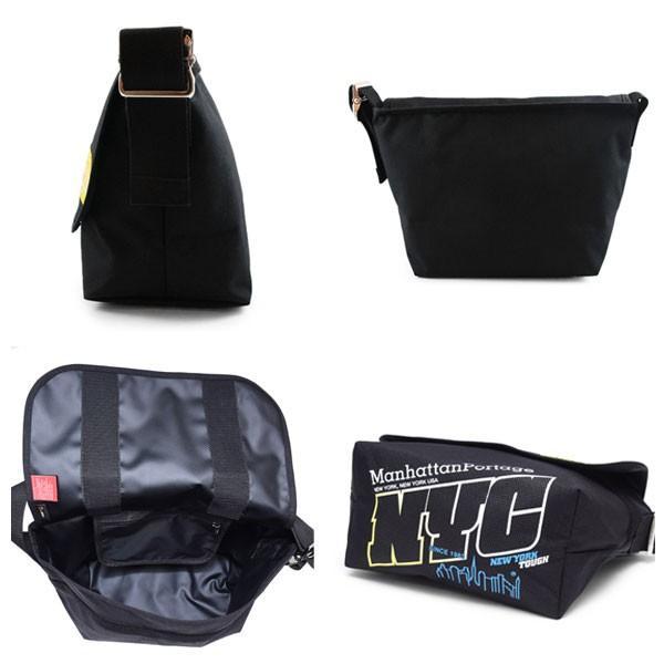 d3108025ae4d ... マンハッタンポーテージ Manhattan Portage NYCプリント ヴィンテージ メッセンジャーバッグ PVC ブラック ブルー  Vintage Messenger Bag ...