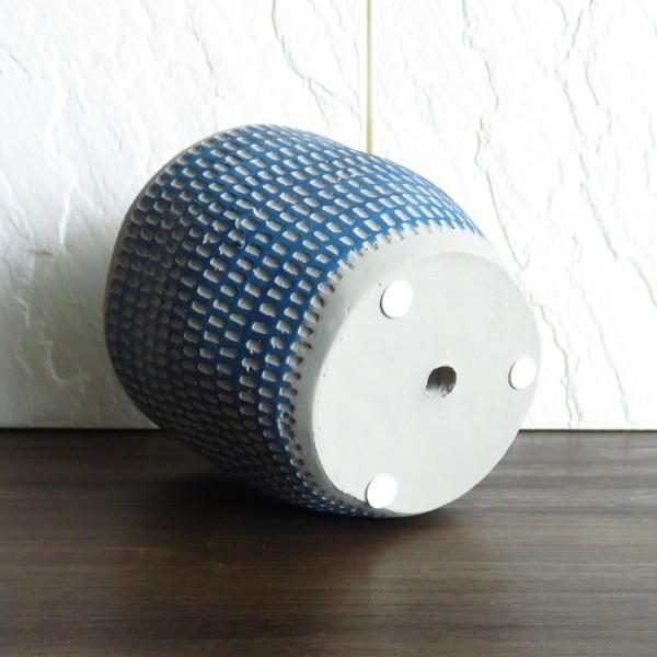 ミニポット レリーフプランター ブルー  ココファイバー付 セット インテリア 鉢 プランター|wanold-shop|07
