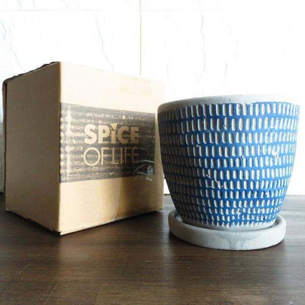 ミニポット レリーフプランター ブルー  ココファイバー付 セット インテリア 鉢 プランター|wanold-shop|08