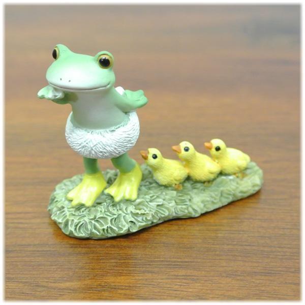 (カエルのアヒルごっこ)カエル 置物 コポーやカエル グッズ 雑貨(バリ雑貨 アジアン雑貨)風水にもおすすめのカエルの置物(かえる 蛙 フロッグ)