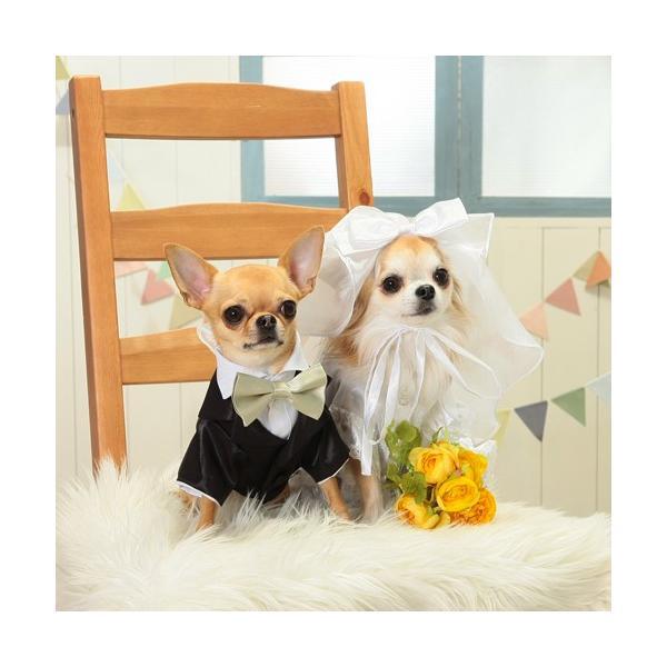 【送料無料】結婚式や記念日に。愛犬のためのタキシードスーツ&シルクハット&蝶ネクタイセット(受注生産)|wanpla|06