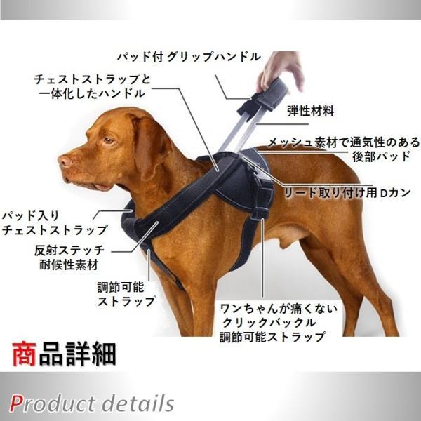 犬用 ハーネス 大型犬 中型犬 超大型犬 しつけ 胴輪 トレーニング 引っ張り防止 高品質 伸縮 のび〜るハーネス XL XXL wanwan-square-garden 05
