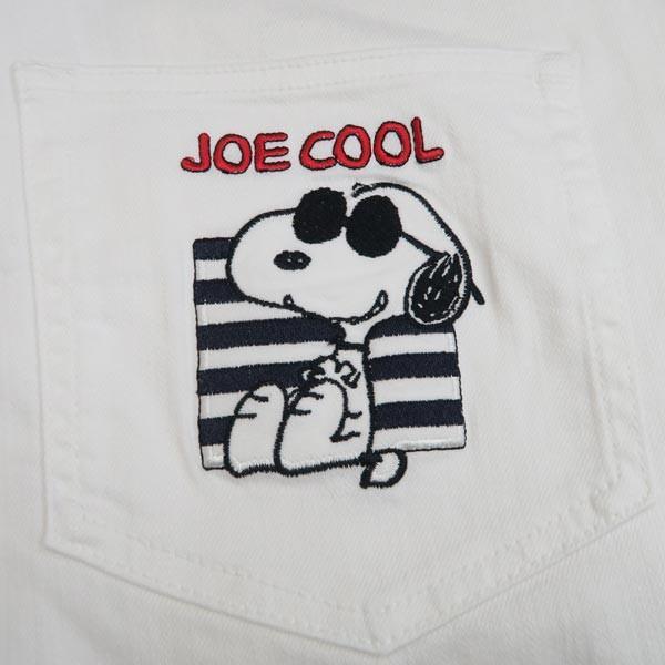 カステルバジャック スヌーピー 5ポケットジーンズ 白86-94cm 21450-101-01 castelbajac Snoopy|wanwan|06