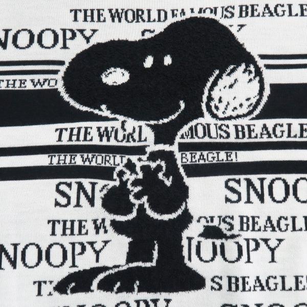 カステルバジャック スヌーピー丸首セーター 白 50サイズ 21480-103-01 castelbajac Snoopy ニット|wanwan|04