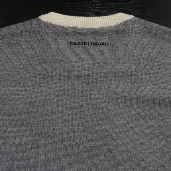 カステルバジャック スヌーピー丸首セーター 白 50サイズ 21480-103-01 castelbajac Snoopy ニット|wanwan|06