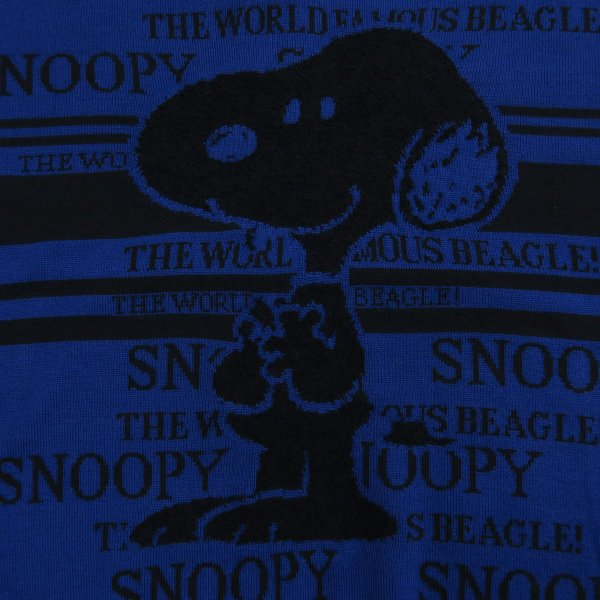 カステルバジャック スヌーピー丸首セーター 青 50サイズ 21480-103-57 castelbajac Snoopy ニット|wanwan|04