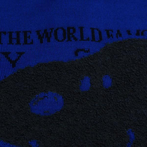 カステルバジャック スヌーピー丸首セーター 青 50サイズ 21480-103-57 castelbajac Snoopy ニット|wanwan|05