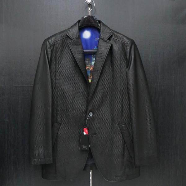 バラシ 本革ジャケット 黒 50サイズ 2150-6781-20 barassi|wanwan
