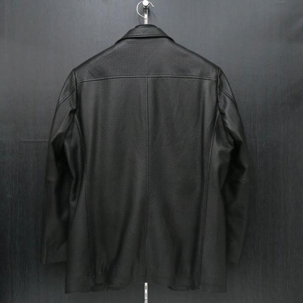バラシ 本革ジャケット 黒 50サイズ 2150-6781-20 barassi|wanwan|02