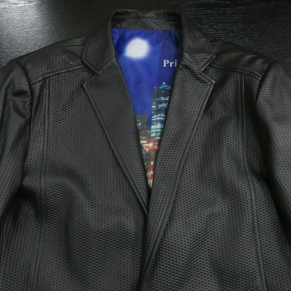 バラシ 本革ジャケット 黒 50サイズ 2150-6781-20 barassi|wanwan|03