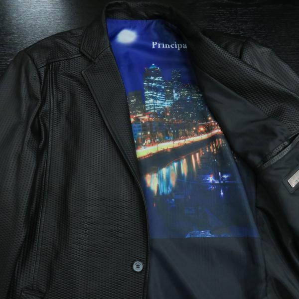 バラシ 本革ジャケット 黒 50サイズ 2150-6781-20 barassi|wanwan|06
