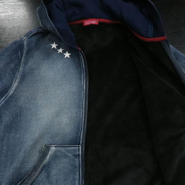 バラシ ジップアップパーカー上下セット インディゴ 50サイズ 2151-2491-53 barassi|wanwan|09
