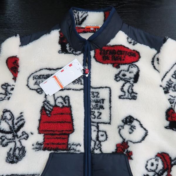 カステルバジャック スヌーピーフリースブルゾン 白 46/48/50サイズ 23471-102-01 castelbajac Snoopy|wanwan|03