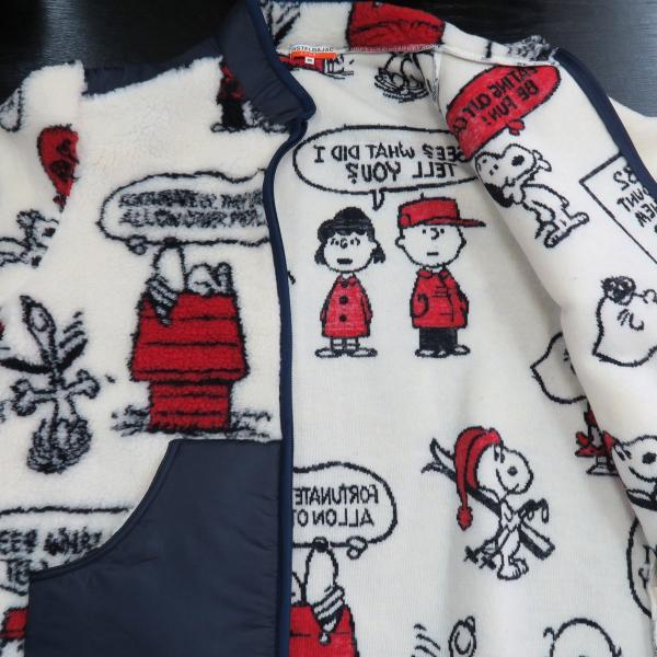 カステルバジャック スヌーピーフリースブルゾン 白 46/48/50サイズ 23471-102-01 castelbajac Snoopy|wanwan|05