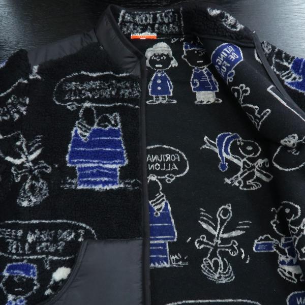 カステルバジャック スヌーピーフリースブルゾン 黒 46/48/50サイズ 23471-102-99 castelbajac Snoopy|wanwan|04