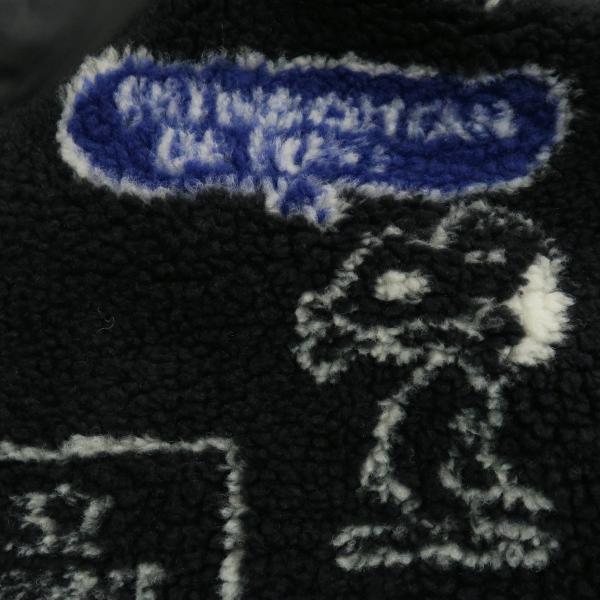 カステルバジャック スヌーピーフリースブルゾン 黒 46/48/50サイズ 23471-102-99 castelbajac Snoopy|wanwan|05