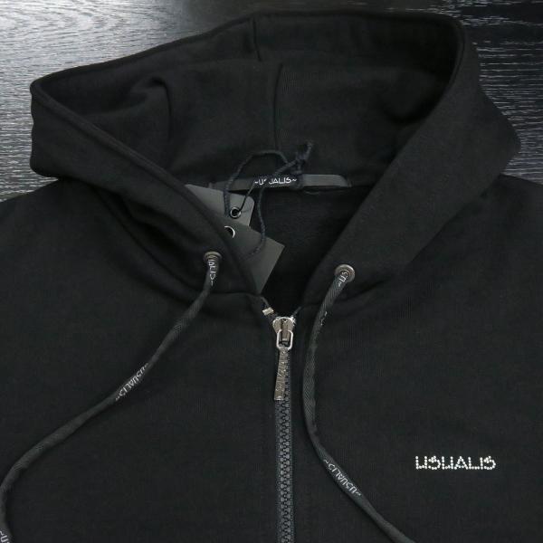 ウザリス ラインストーンスカルジップアップパーカー 黒 XXLサイズ 75-3106-60-05 USUALIS|wanwan|03