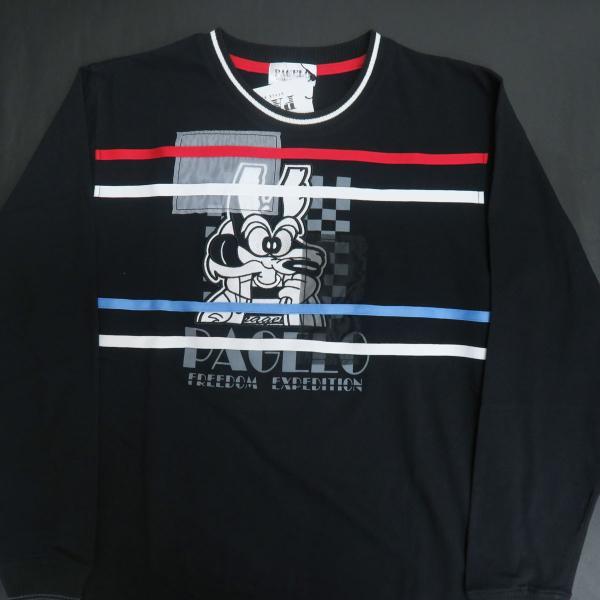 パジェロ 長袖Tシャツ 黒 81-1581-07-05 PAGELO オオカミ 狼|wanwan|03