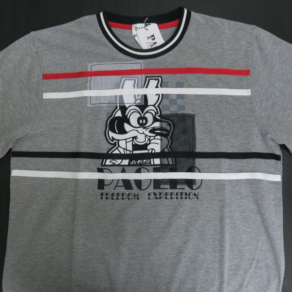 パジェロ 長袖Tシャツ グレー 81-1581-07-35 PAGELO オオカミ 狼 wanwan 03