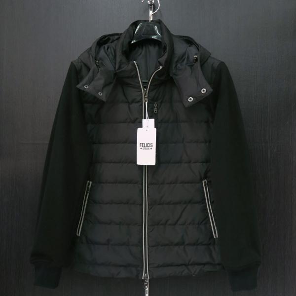 フェリシスステラ ダウンパーカーブルゾン 黒 50サイズ 916701-Z58 FELICIS STELLA wanwan