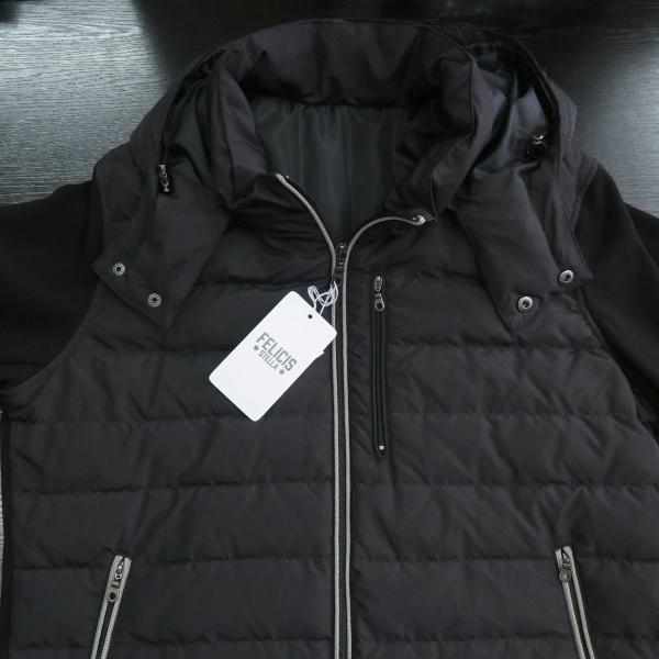 フェリシスステラ ダウンパーカーブルゾン 黒 50サイズ 916701-Z58 FELICIS STELLA wanwan 03
