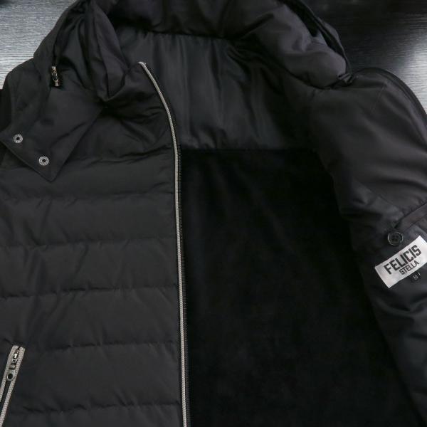 フェリシスステラ ダウンパーカーブルゾン 黒 50サイズ 916701-Z58 FELICIS STELLA wanwan 05
