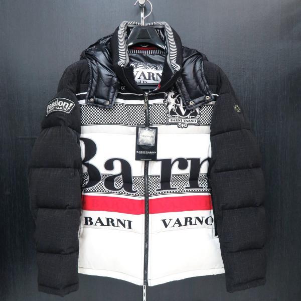 バーニヴァーノ ダウンジャケット 黒/白 Lサイズ BAW-GDB2601-05 BARNI VARNO|wanwan