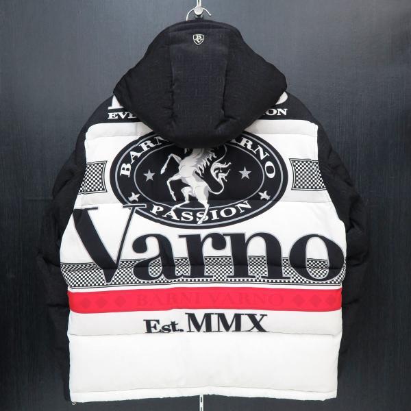 バーニヴァーノ ダウンジャケット 黒/白 Lサイズ BAW-GDB2601-05 BARNI VARNO|wanwan|02