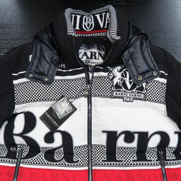 バーニヴァーノ ダウンジャケット 黒/白 Lサイズ BAW-GDB2601-05 BARNI VARNO|wanwan|04