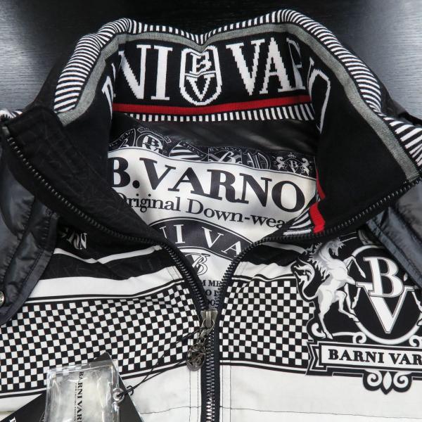 バーニヴァーノ ダウンジャケット 黒/白 Lサイズ BAW-GDB2601-05 BARNI VARNO|wanwan|05