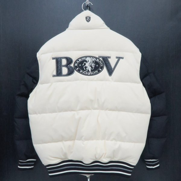 バーニヴァーノ ダウンジャケット オフシロ/黒 Lサイズ BAW-GDB2602-02 BARNI VARNO wanwan 02
