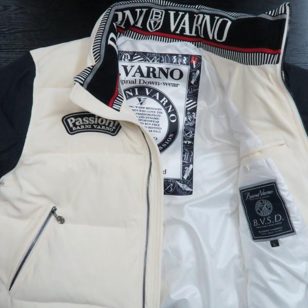 バーニヴァーノ ダウンジャケット オフシロ/黒 Lサイズ BAW-GDB2602-02 BARNI VARNO wanwan 03