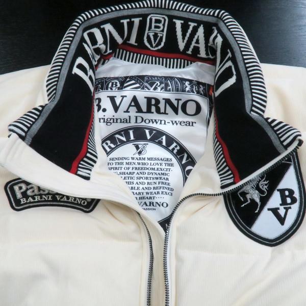 バーニヴァーノ ダウンジャケット オフシロ/黒 Lサイズ BAW-GDB2602-02 BARNI VARNO wanwan 04