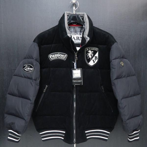 バーニヴァーノ ダウンジャケット 黒 Lサイズ BAW-GDB2602-09 BARNI VARNO wanwan