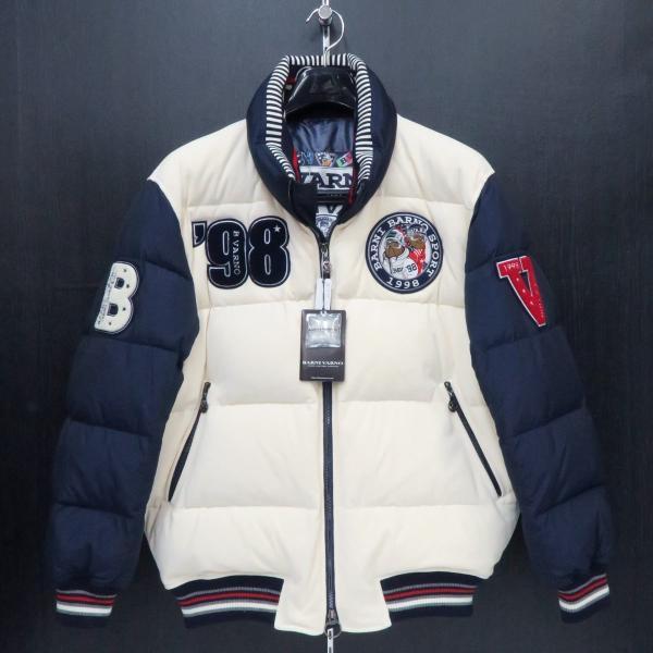 バーニヴァーノ ダウンジャケット オフシロ/紺 Lサイズ BAW-GDB2603-02 BARNI VARNO|wanwan