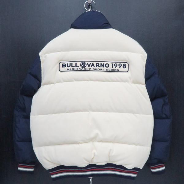 バーニヴァーノ ダウンジャケット オフシロ/紺 Lサイズ BAW-GDB2603-02 BARNI VARNO|wanwan|02
