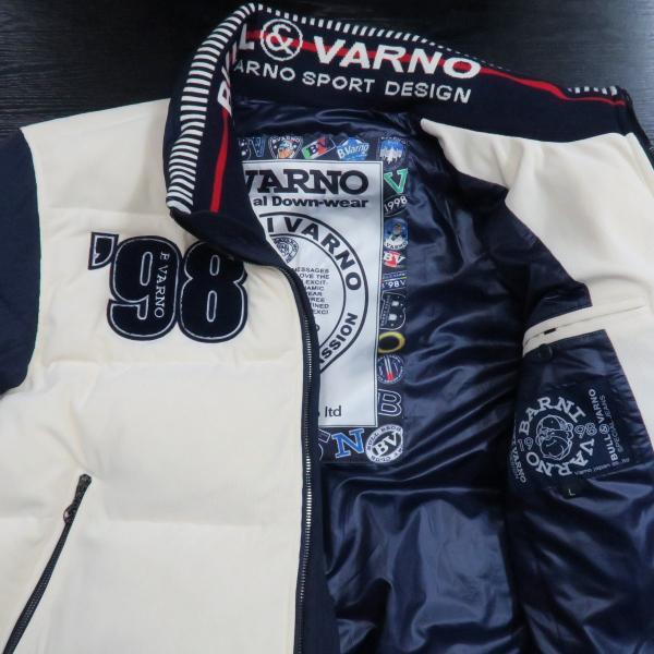 バーニヴァーノ ダウンジャケット オフシロ/紺 Lサイズ BAW-GDB2603-02 BARNI VARNO|wanwan|03