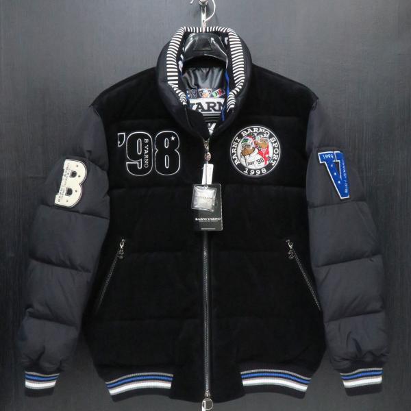 バーニヴァーノ ダウンジャケット 黒 Lサイズ BAW-GDB2603-09 BARNI VARNO|wanwan
