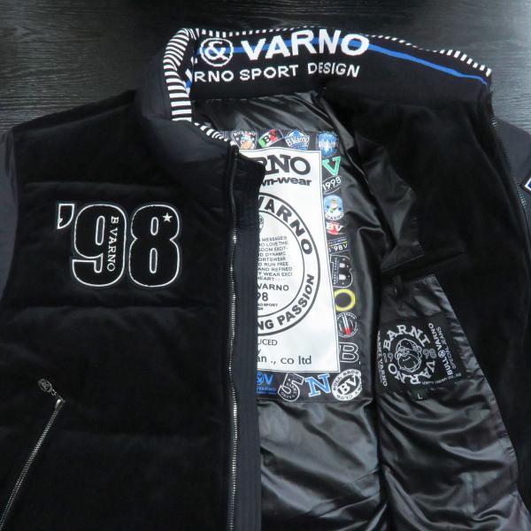 バーニヴァーノ ダウンジャケット 黒 Lサイズ BAW-GDB2603-09 BARNI VARNO|wanwan|03