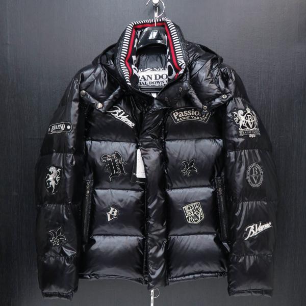 バーニヴァーノ ダウンジャケット 黒 Lサイズ BSS-GDB2605-09 BARNI VARNO|wanwan