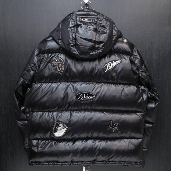 バーニヴァーノ ダウンジャケット 黒 Lサイズ BSS-GDB2605-09 BARNI VARNO|wanwan|02