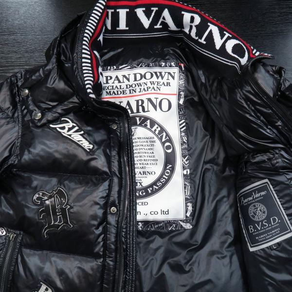 バーニヴァーノ ダウンジャケット 黒 Lサイズ BSS-GDB2605-09 BARNI VARNO|wanwan|03